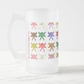 Motif de cerf-volant de papillon frosted glass beer mug