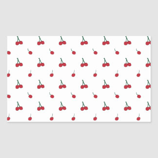 Motif de cerise sticker rectangulaire