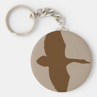 Motif de chasse de canard porte-clé