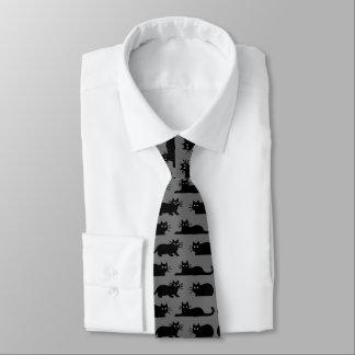 Motif de chats noirs cravates