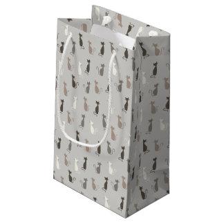 Motif de chats petit sac cadeau