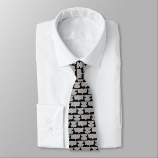Motif de chiens de pharaon cravates