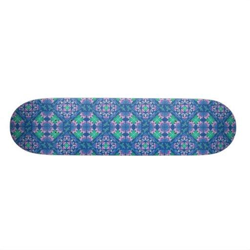 Motif de chinois traditionnel plateaux de skate