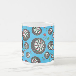 Motif de cible de bleu de ciel mug en verre givré