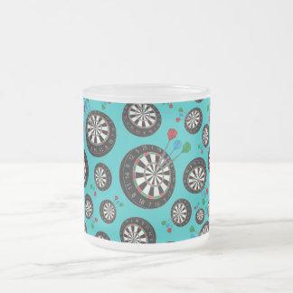 Motif de cible de turquoise mug en verre givré