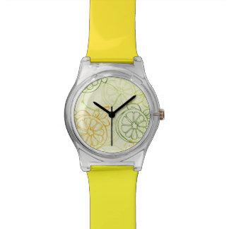 Motif de citron montres cadran