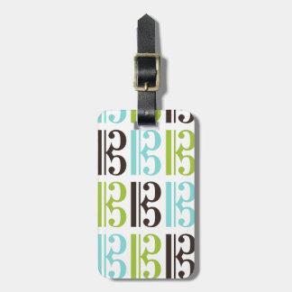 Motif de clef d'alto étiquettes bagages