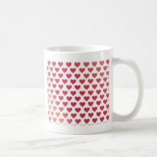 Motif de coeur - gradient rouge de baie mug