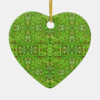 Motif de collage de nature de Digitals Ornement Cœur En Céramique