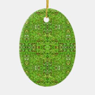 Motif de collage de nature de Digitals Ornement Ovale En Céramique