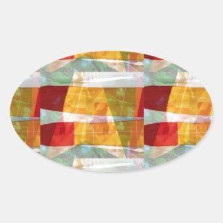 Motif de collage de TISSU de mode d'ARTISTE :  À Autocollants Ovales