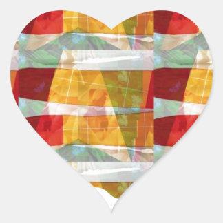 Motif de collage de TISSU de mode d'ARTISTE :  À Sticker Cœur
