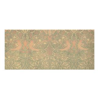 Motif de colombe et de rose de William Morris Carte Publicitaire