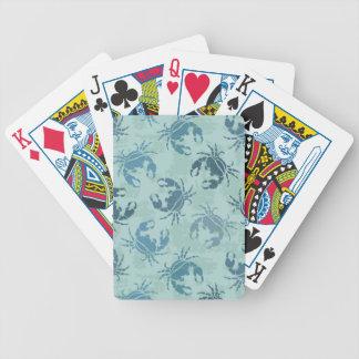 Motif de colorant de cravate des crabes jeux de cartes