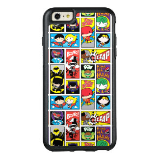 Motif de compilation de ligue de justice de Chibi Coque OtterBox iPhone 6 Et 6s Plus