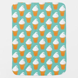 Motif de cône de glace à la vanille couvertures pour bébé