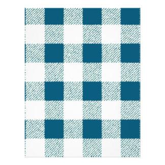 Motif de contrôle de guingan de vert bleuâtre prospectus 21,6 cm x 24,94 cm