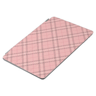 Motif de corail en pastel de plaid de tartan de protection iPad air