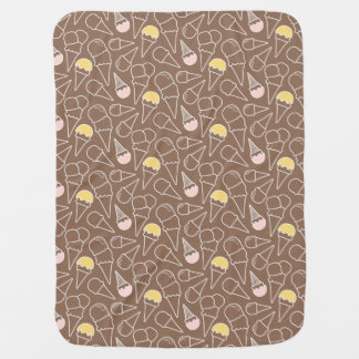 Motif de cornet de crème glacée sur Brown Couvertures Pour Bébé