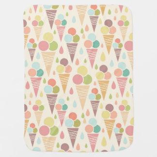 Motif de cornets de crème glacée couvertures pour bébé