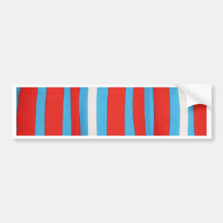 Motif de coussin de rouge bleu et de blanc autocollants pour voiture