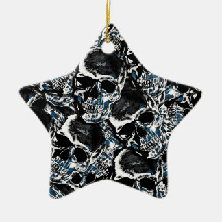 Motif de crâne ornement étoile en céramique