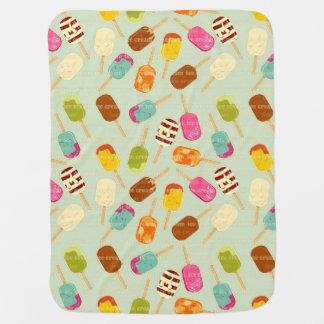 Motif de crème glacée couverture de bébé
