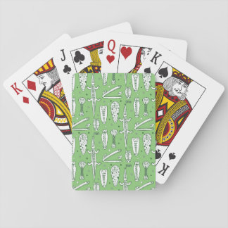 Motif de crocodile de croquis jeu de cartes