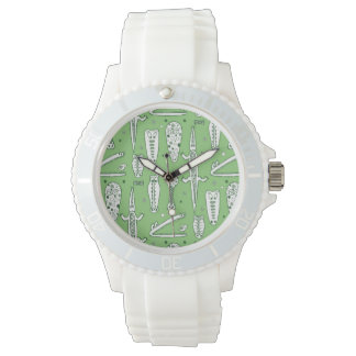 Motif de crocodile de croquis montres bracelet