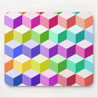 Motif de cube multicolore tapis de souris