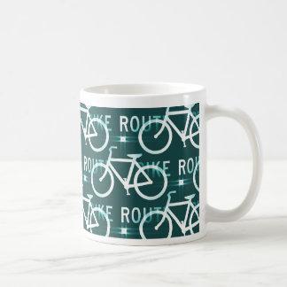 Motif de cycliste de vélo de Fixie d'itinéraire de Mug
