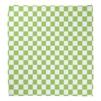 Motif de damier de vert jaune bandana