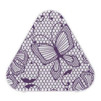 Motif de dentelle avec des papillons haut-parleur bluetooth