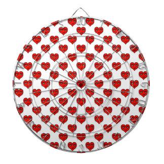 Motif de dessin de forme de coeur d'Emoji Jeu De Fléchettes