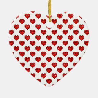 Motif de dessin de forme de coeur d'Emoji Ornement Cœur En Céramique