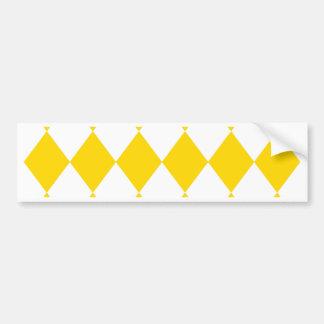 MOTIF de DIAMANT dans le ~ jaune (de jaune de Autocollant De Voiture