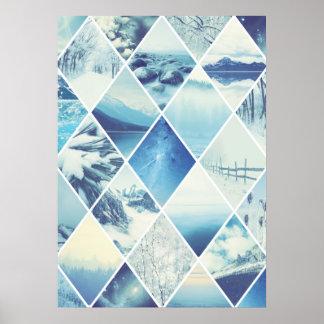 Motif de diamant d'hiver poster