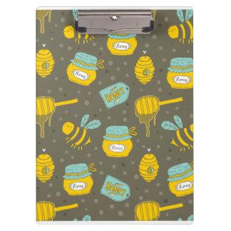 Motif de Dipper de miel d'apiculteur