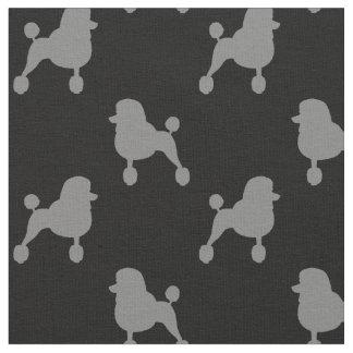 Motif de fantaisie de silhouettes de caniche tissu