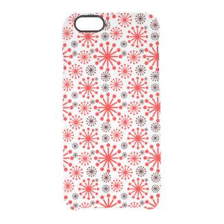 * Motif de fête de flocon de neige d'hiver - rouge Coque iPhone 6/6S