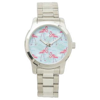 Motif de flamant montres bracelet