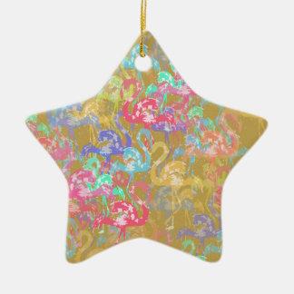 Motif de flamant ornement étoile en céramique