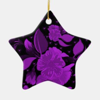 motif de fleur 3 ornement étoile en céramique
