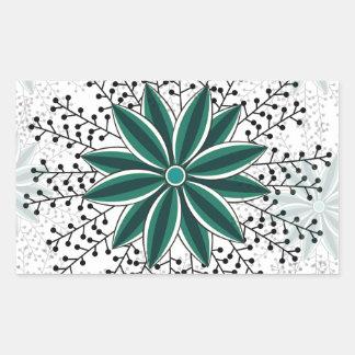 motif de fleur 6 sticker rectangulaire