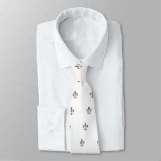 Motif de Fleur de Lis Checkered Cravates