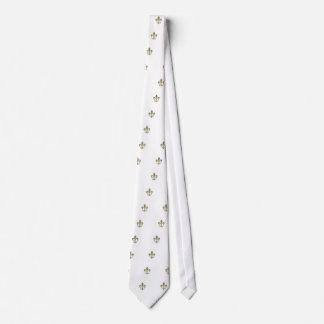 Motif de Fleur de Lis Checkered Cravates Personnalisables