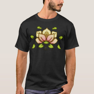 Motif de fleur et de vigne t-shirt