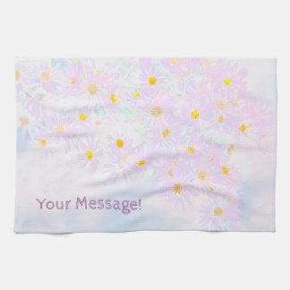 Motif de fleur éternel d'aster serviette pour les mains