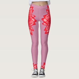 Motif de fleur rouge votre legging personnalisable