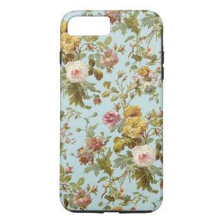 Motif de fleur vintage élégant chic de rose de coque iPhone 7 plus